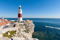 De Vuurtoren van Gibraltar Stock Foto's