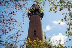 De Vuurtoren van het Currituckstrand in Corolla, Noord-Carolina royalty-vrije stock fotografie