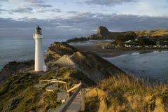De vuurtoren van het kasteelpunt, het Noordeneiland, Nieuw Zeeland Stock Foto