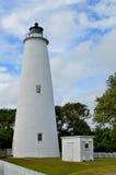 De Vuurtoren van het Ocracokeeiland stock foto's
