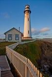 De Vuurtoren van het Punt van de duif, Vreedzame Oceaan, Californië Royalty-vrije Stock Afbeeldingen