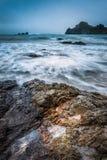 De Vuurtoren van het Punt van het goudklompje, Nieuw Zeeland royalty-vrije stock foto
