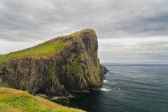 De vuurtoren van het Punt van Neist in Eiland van Skye, Schotland Stock Fotografie