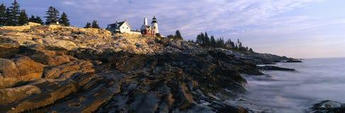 De Vuurtoren van het Punt van Pemaquid, Maine Royalty-vrije Stock Afbeeldingen
