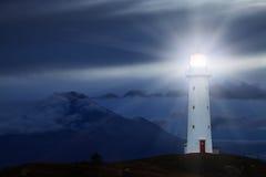 De Vuurtoren van kaapegmont, Nieuw Zeeland Stock Afbeelding