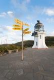 De Vuurtoren van kaapreinga in Nieuw Zeeland Stock Fotografie