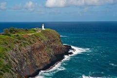 De Vuurtoren van Kilauea op Kauai, Hawaï Royalty-vrije Stock Foto's