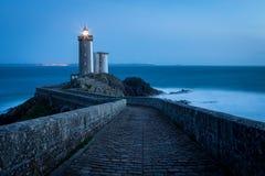 De vuurtoren van le Petit Minou, Bretagne, Frankrijk royalty-vrije stock foto