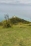 De Vuurtoren van Reinga van de kaap, Nieuw Zeeland Royalty-vrije Stock Afbeelding