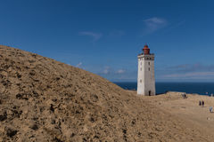 De vuurtoren van Rubjergknude, Denemarken stock afbeelding