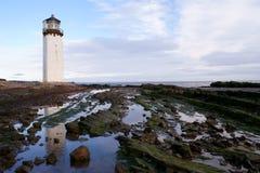 De Vuurtoren van Southerness, Kirkcudbrightshire stock fotografie
