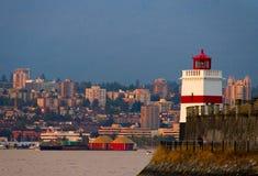 De Vuurtoren van Vancouver Stock Afbeelding