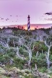 De Vuurtoren Verticaal Noord-Carolina van kaaphatteras Royalty-vrije Stock Foto's