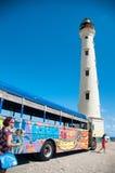De Vuurtorenoriëntatiepunt van Californië op Aruba de Caraïben Royalty-vrije Stock Afbeelding
