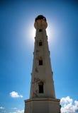De Vuurtorenoriëntatiepunt van Californië op Aruba de Caraïben Stock Fotografie