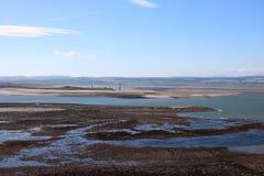 De vuurtorens Northumberland van Guile Point van de Heughheuvel stock afbeelding
