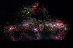 De vuurwerkvertoning in Yeovil toont gronden Stock Foto