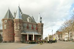 'De Waag' in Amsterdam the Netherlands Royalty Free Stock Photos