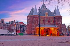 De Waag building in Amsterdam the Netherlands Stock Image