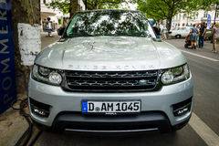 De Waaier Rover Sport van SUV van de medio-grootteluxe, sinds 2013 Royalty-vrije Stock Afbeelding