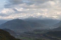 De Waaier van Annapurna Royalty-vrije Stock Foto