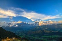 De Waaier van Annapurna Stock Foto