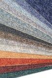 De waaier van de kleur van tapijtsteekproeven royalty-vrije stock foto