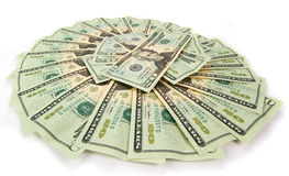 De waaier van dollars Royalty-vrije Stock Afbeeldingen