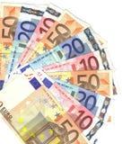 De waaier van euro Royalty-vrije Stock Foto's