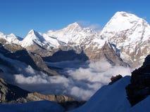 De waaier van Everest Stock Afbeeldingen