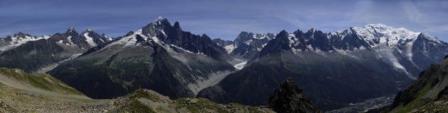 De waaier van Mont Blanc Royalty-vrije Stock Afbeeldingen