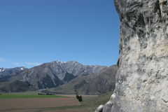 De waaier van Torlesse, de Heuvel van het Kasteel, Nieuw Zeeland royalty-vrije stock fotografie