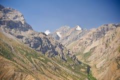 De waaier van Turkestan, Pamir bergen Stock Foto's
