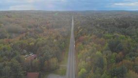De waaierlandschap van Pennsylvania de V.S. van Poconobergen stock videobeelden