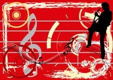 De Waanzin van de gitaar stock illustratie