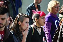 De waardigheid maart een protest 55 Stock Foto's