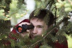 De waarnemer stock foto