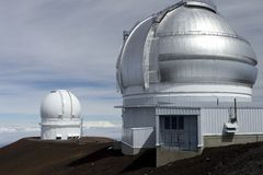 De Waarnemingscentra Hawaï van Kea van Mauna stock fotografie