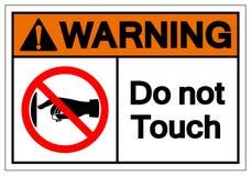 De waarschuwing raakt Symbool geen Teken, Vectorillustratie, isoleren op Wit Etiket Als achtergrond EPS10 stock illustratie