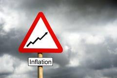 De Waarschuwing van de inflatie Stock Afbeeldingen