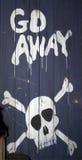 De waarschuwing van de piraat Stock Afbeeldingen