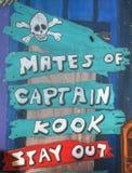 De waarschuwing van de piraat voor partners Stock Foto