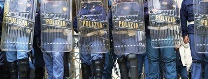 De waarschuwing van de politie Stock Foto