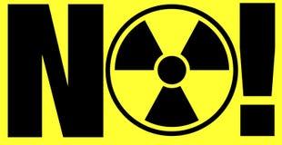 De waarschuwing van de straling Stock Foto's