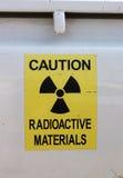 De waarschuwing van de straling Stock Foto