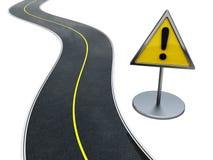 De waarschuwing van de weg stock illustratie