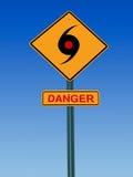 De waarschuwing van het tornadogevaar Stock Afbeeldingen