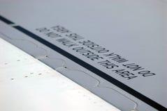 De waarschuwing van het vliegtuig stock afbeelding