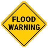 De Waarschuwing van de waarschuwingsbordvloed Het Horloge van de flitsvloed stock illustratie
