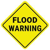 De Waarschuwing van de waarschuwingsbordvloed Het Horloge van de flitsvloed vector illustratie